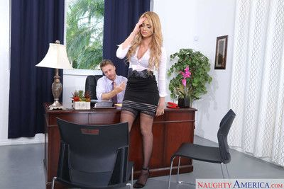 Skyla novea seduces her boss in his office