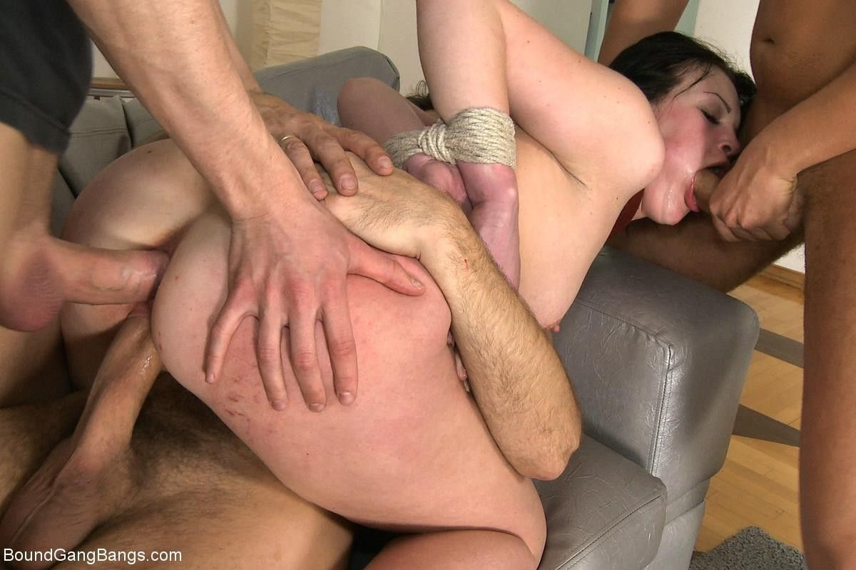 Triple penetration double anal russian with gaping butthole