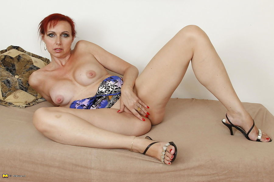Horny red housewife playing with herself - part 429