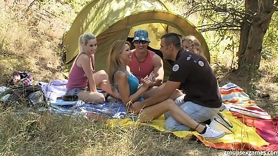 Two couples turn a camping trip..