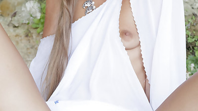 Slim blonde bitch Milena D..