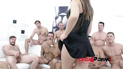 10 man gangbang for Anina Silk..