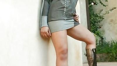 Stunning latina in boots Sophia..