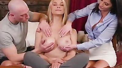 Massage threesome with stepmom 6..