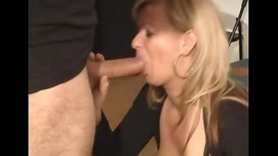 Hungarian hot milf casting blowjob