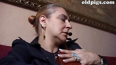 Mature classy woman banged by a..