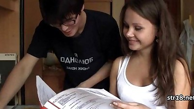 Young Amateur Teen Couple Having..