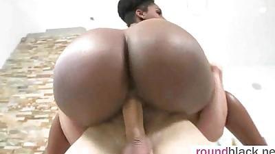 Dark Skin Hot Girl With Round Big..