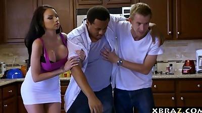 Huge tits girlfriend cheats on..