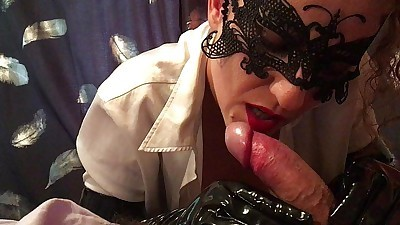 JOI 60 fps Handjob with Latex..