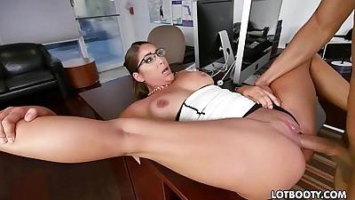Fat ass latina secretary Mia..
