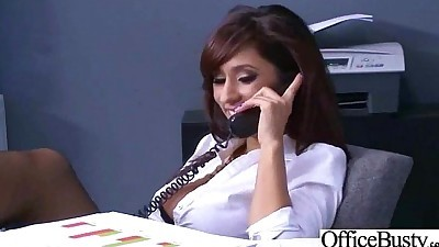 Hard Style Sex In Office With Big..