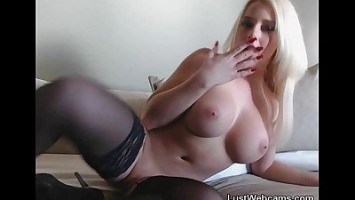 Hot blonde with big tits toys..