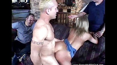 Blonde Housewife Gets Rough..