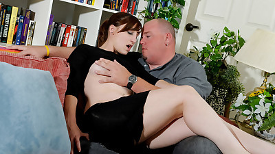 Intense sex with older man along..