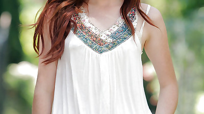 Skinny redhead beauty Elle..