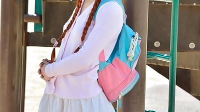 Petite ginger schoolgirl..