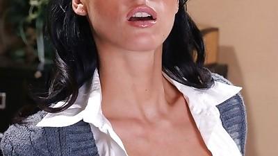 Tempting secretary Jennifer Dark..