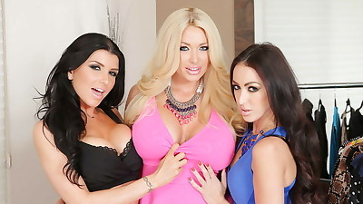 Lesbian threesome with Breanne..