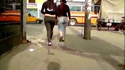 Asses in the street