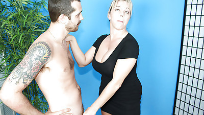Horny mature with giant boobs..