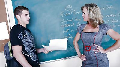Good-looking busty teacher Brandi..