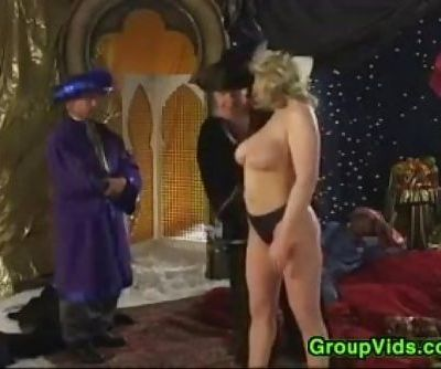 Vintage Group Sex In An Exotic..