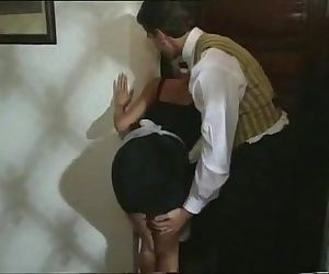 Sexy Blonde Maid gets turned on..