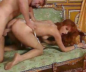 Redhead slut Eva Falk in vintage..