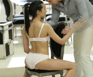 Latina chick Francys Belle takes it up the ass while her..