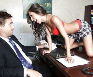 Young schoolgirl April ONeil with big tits gets banged..