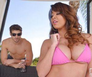 Busty Asian MILF Mia Lelani taking hardcore fucking in..