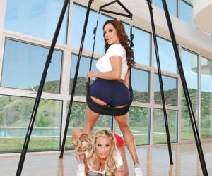MILFs Holly Halston and Francesca Le ass licking and..