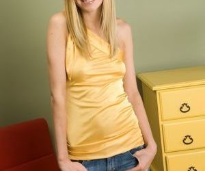 Pretty amateur blonde teen Brenna undressing that..