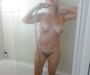Picture- showering stepmom ignorant of the spy camera