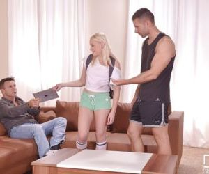 European cowgirl Lola Taylor has threesome groupsex in..