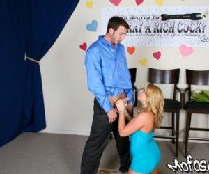 Blond MILF pornstar Flower Tucci loves to fuck cocks with..