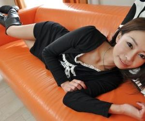 Admirable asian teen Honoka Kawai gets naked and involved..