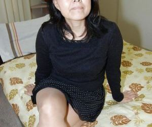 Close up masturbating scene features fatty Asian milf Mako..