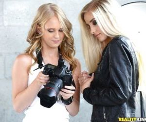 Real life blonde lesbians Lily Rader and Naomi Woods..