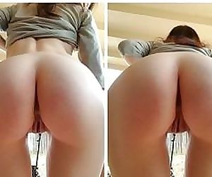 Daughter showing off her sweet- delicious ass.