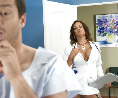 MILF doctor Tory Lane unleashes big tits and nipples before cunt licking
