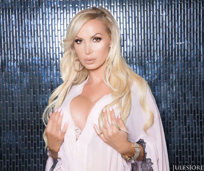 Hot blonde chick Nikki Benz gets banged by a massive black dick